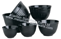 Melamine Bowl with Lid Set