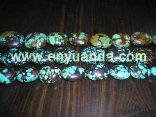 Turquoise oval beads - YD31