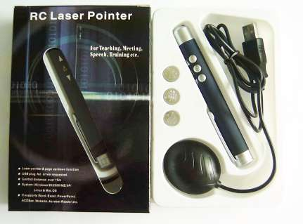 laser pointer with remote control