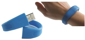 Silicone Bracelets with USB flash drive