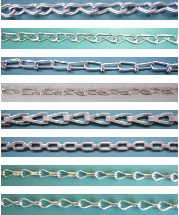 weldless chain, single jack chain, sash chain, double loop chain, plumbers chain - weldless chain