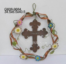 metal spring wreath - G608-9684