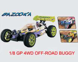 1:8 R/C gas powered 4wd off-road TRUCK. - 94083