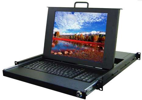 lcd kvm console drawer, rack monitor display, rack mount chassis, kvm switch - lcd kvm console