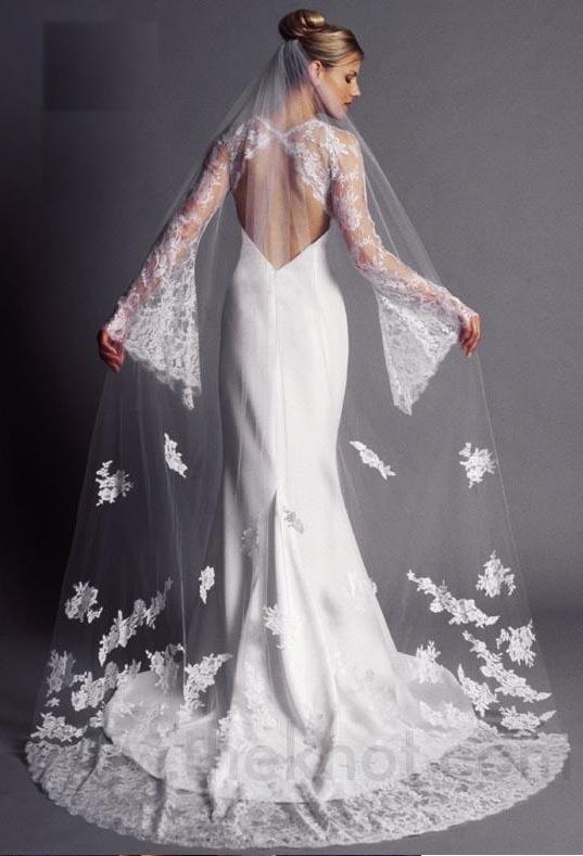 wedding dresses of transparent cloth