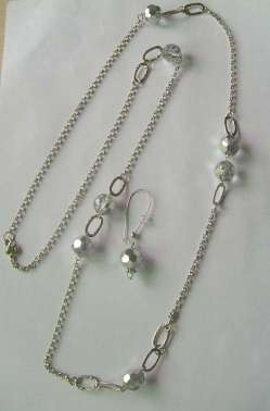 necklace,chain necklace,glass necklace - F-NE00095,F-NK02899B