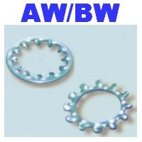 Toothed Internal, External Lock Washers - AW, BW