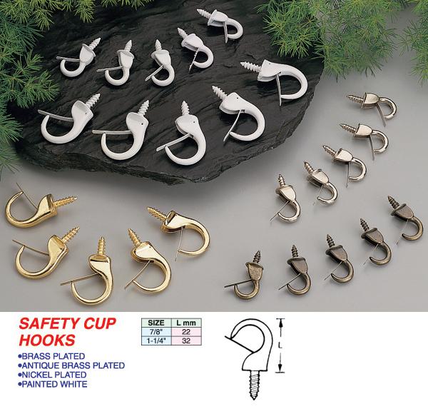 Safety Cup Hooks UCANDO Hardware Corporation - Vinyl coated cup hooks