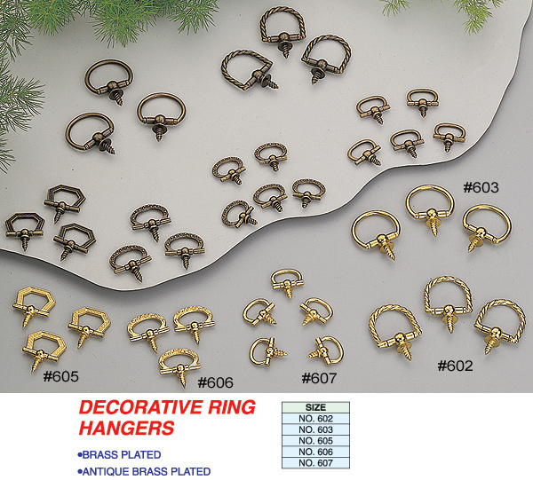 decorative ring hangers more detail click here for details - Decorative Picture Hangers