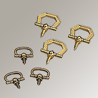 decorative ring hangers more detail - Decorative Picture Hangers