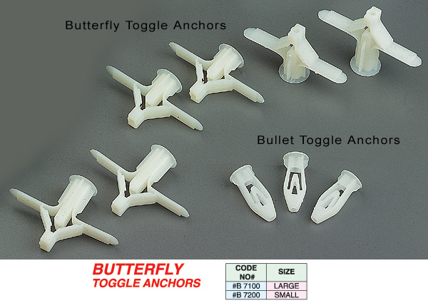 Butterfly Toggle Anchors (43) - U-CAN-DO Hardware Corporation