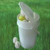*Patent EZ Folding Lid Baseball Pails, Tennis Ball Pails, Softball Pails,buckets, boxes