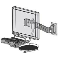 Wall mount LCD/KB holder - model #60239W series