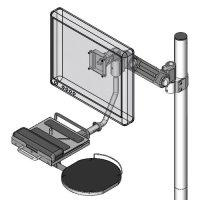 Pole mount LCD/KB holder - model #60239P series