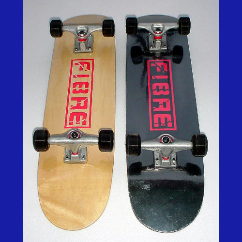 Unique hi tech fibre skateboards