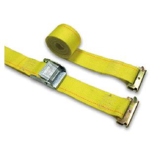 "2"" x 12' Yellow Logistic Strap- Cam Buckle W/ E Fittings."